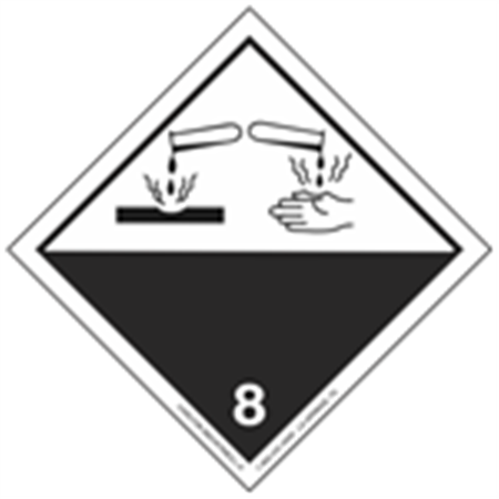 GHS Class 8 Corrosive Material Label Transport Pictogram 2 Inch