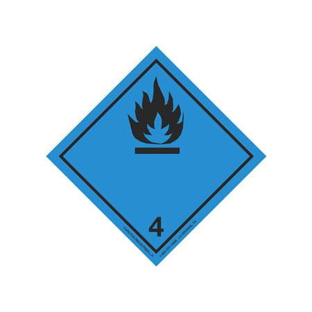 "GHS Class 4 (Black Flame) Transport Pictogram 2"""