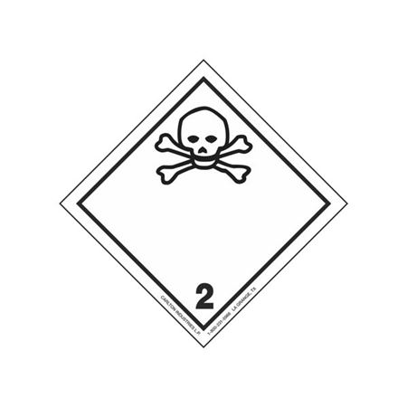 GHS Class 2 Poisonous Material Label Transport Pictogram 4 Inch