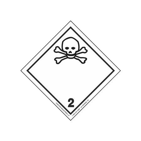 "GHS Class 2 Poisonous Material Label Transport Pictogram 2"""