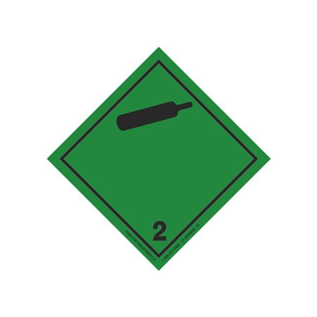 """GHS 2"""" Transport Label, Class 2 Non-Flammable Gas(Cylinder)"""