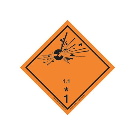 GHS Class 1 Explosive 1.1 Label Transport Pictogram 4 Inch