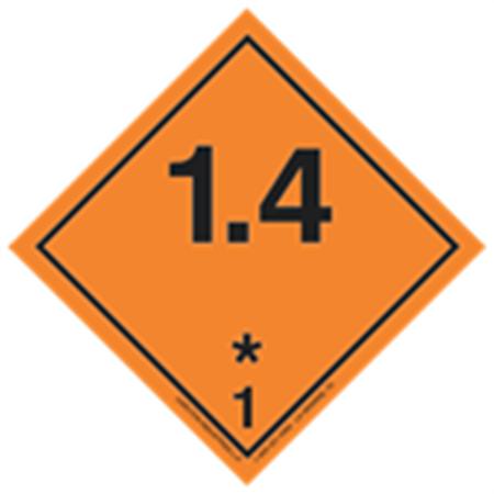 GHS Class 1 Explosive 1.4 Label Transport Pictogram 2 Inch