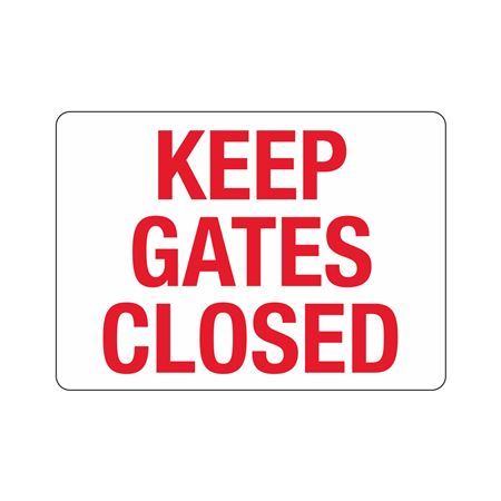 Gate Directional - Keep Gates Closed Poly 10 x 14