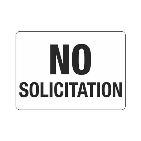 No Solicitation  Polyethylene  10 x 14