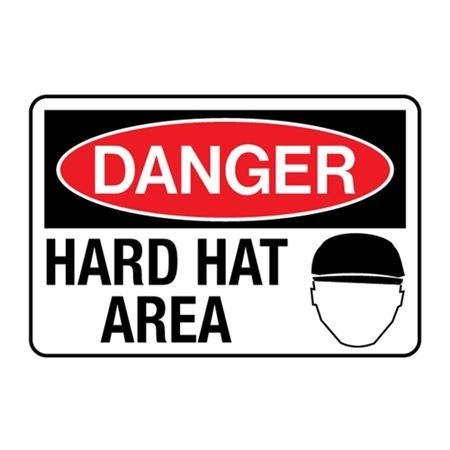 Danger Hard Hat Area Decal