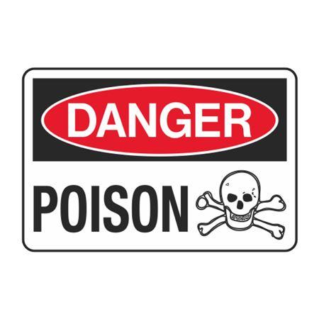Danger Poison Decal