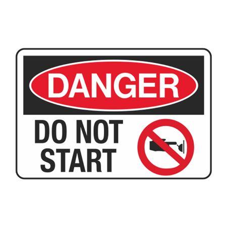 Danger Do Not Start Decal