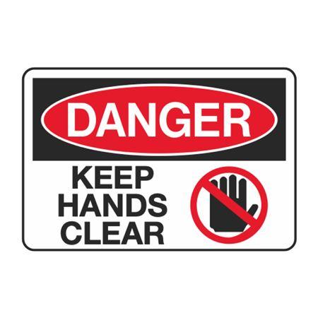 Danger Keep Hands Clear Decal