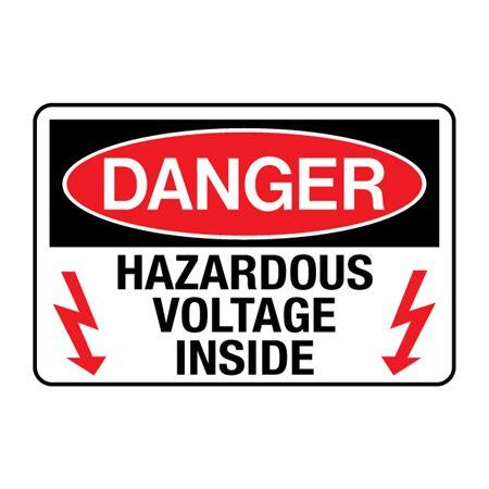 Danger Hazardous Voltage Inside Decal
