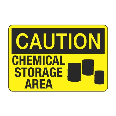 Caution Chemical Storage Area Decal
