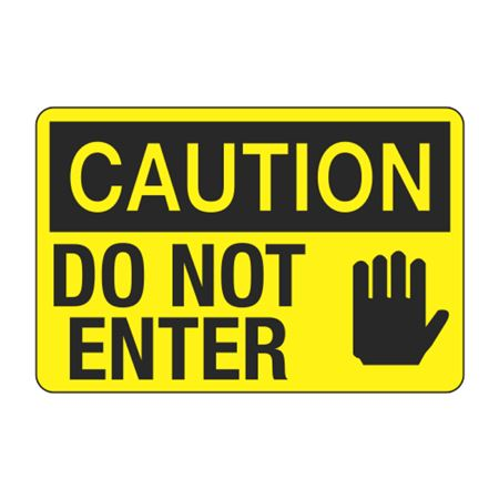 Caution Do Not Enter Decal