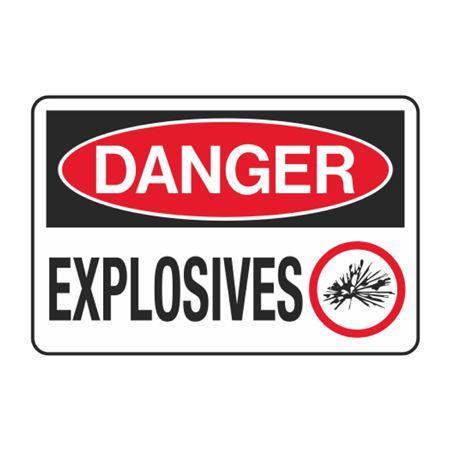 Danger Explosives Decal
