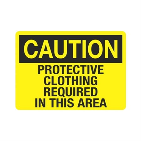 Caution Protective Cloth … uired In This Area Sign
