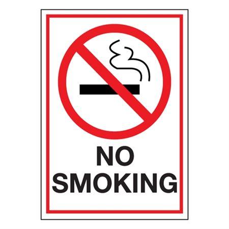 Industrial Heavy Duty No Smoking Decal