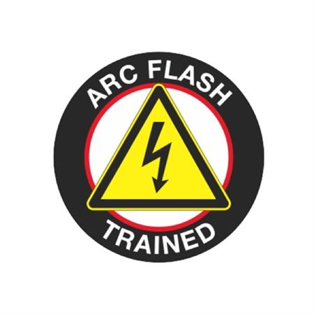 Arc Flash Trained Hard Hat Decal