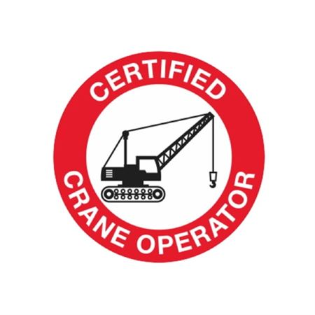 Certified Crane Operator Hard Hat Decal