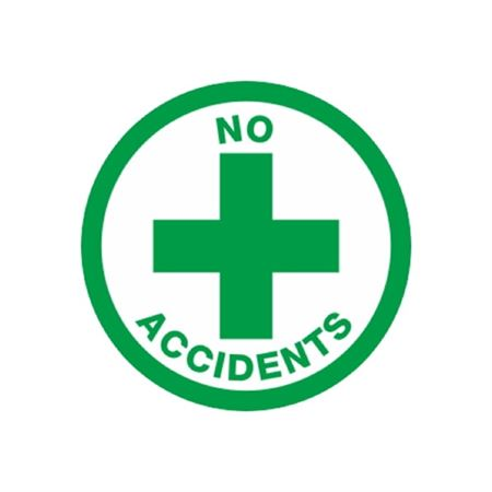 No Accidents Hard Hat Decal