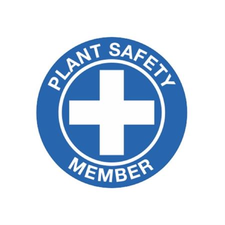 Plant Safety Hard Hat Decal
