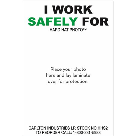 I Work Safely For-Personalized Hard Hat Decal PK/50 -3x2
