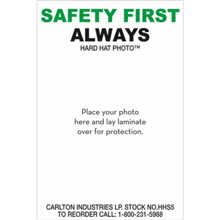 Safety First Always-Personalized Hard Hat Decal PK/50 -3x2