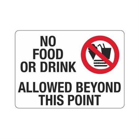 No Food Or Drink Allowed Beyond This Point Sign