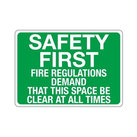 Fire Regulations Demand This Space Be Clear At All Times