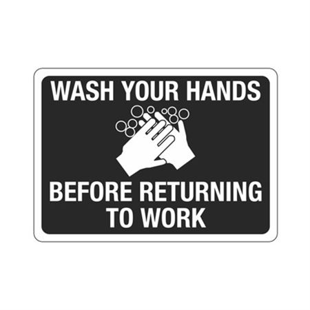 Wash Your Hands Before Returning To Work Sign