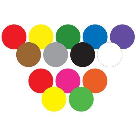 Blank Vinyl Circular Hot Labels - Perm. Adhesive 1 1/8