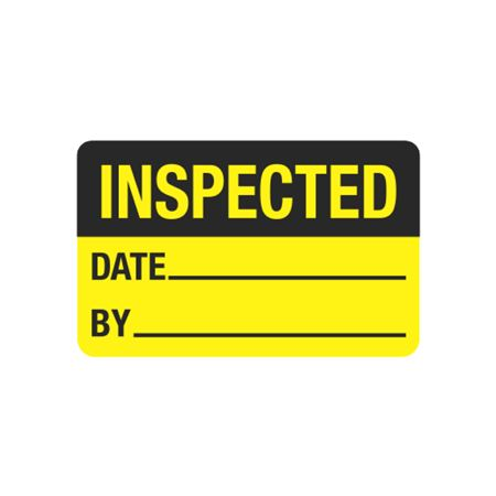 Calibration Hot Labels - Inspected Date__By__ 1.5 x 2.375