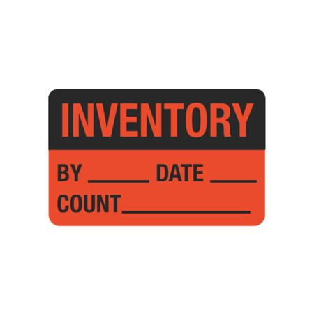 Calibration Hot Labels - Inventory By__ Date__ Count__ 1.5 x 2.375