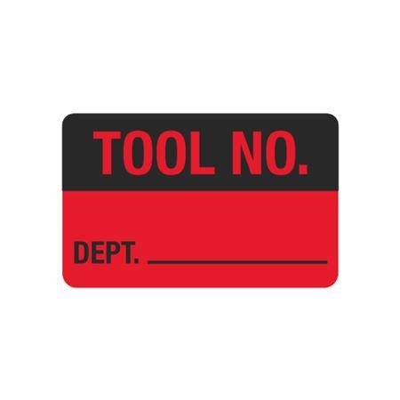 Calibration Hot Labels - Tool No. Dept. - 1 1/2 x 2 3/8