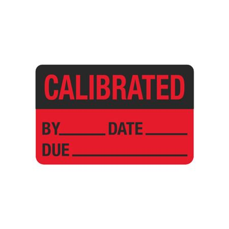 Calibration Hot Labels - Calibrated By__ Date__ Due__ 1.5 x 2.375