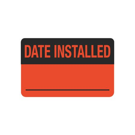 Calibration Hot Labels - Date Installed __ 1.5 x 2.375