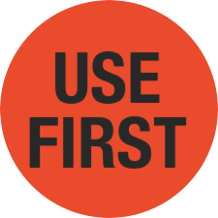 Inventory Control Labels - Use First - Orange 1.5 x 1.5