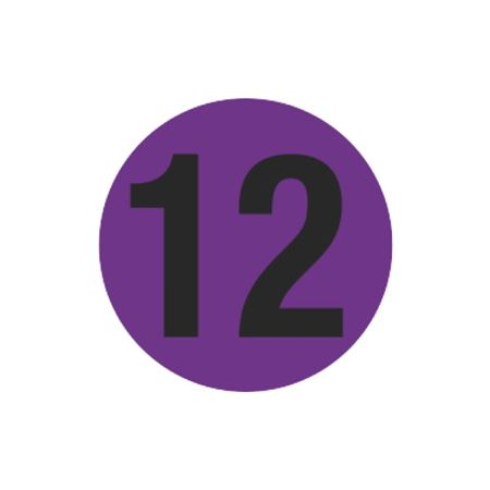 Printed Stock Hot Labels - #12 - Purple 1.5 x 1.5