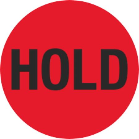 Inventory Control Labels - Hold - Red 1.5 x 1.5