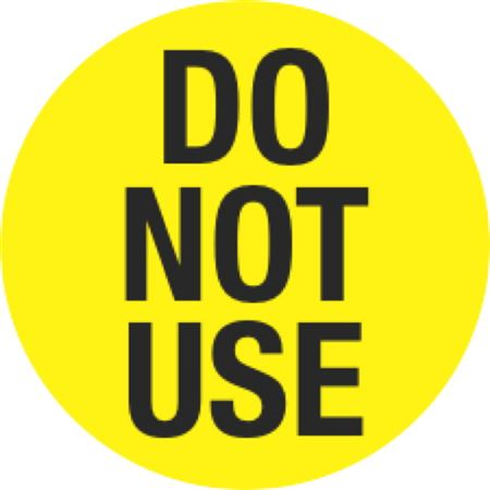 Inventory Control Labels - Do Not Use - Yellow 1.5 x 1.5