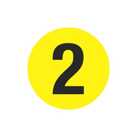 Printed Stock Hot Labels - #2 - Yellow 1.5 x 1.5