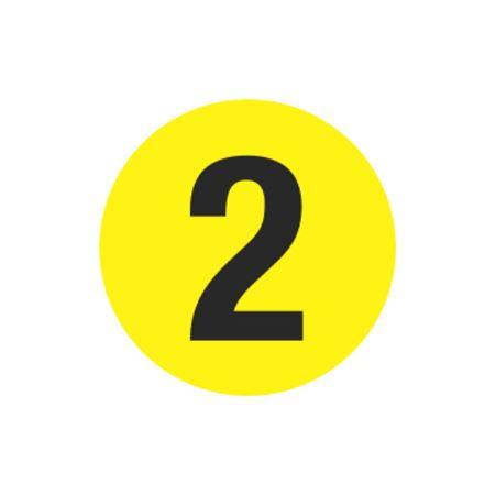 Printed Stock Hot Labels - #2 - Yellow - 1 1/2 dia.