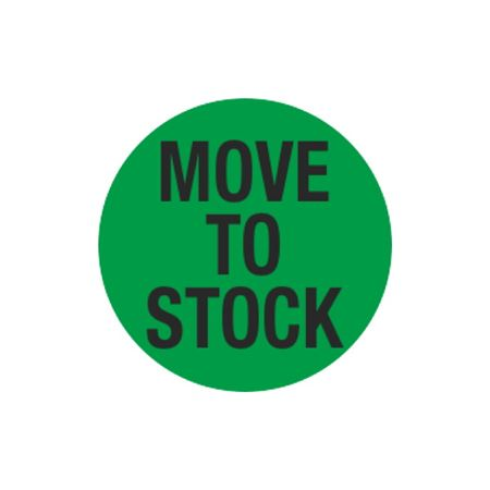 Inventory Control Labels - Move to Stock - Green 1.5 x 1.5