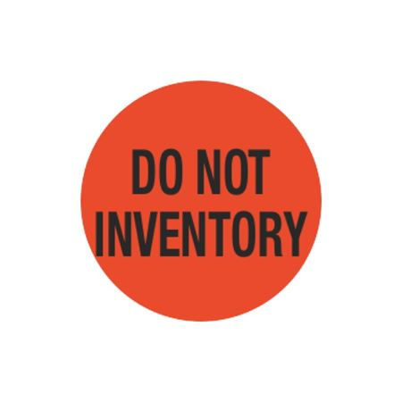 Inventory Control Labels - Do Not Inventory - Orange 1.5 x 1.5