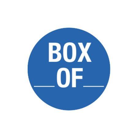 Inventory Control - Box __Of__ - Blue - 1 1/2 dia.