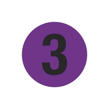 Printed Stock Hot Labels - #3 - Purple - 1 1/2 dia.