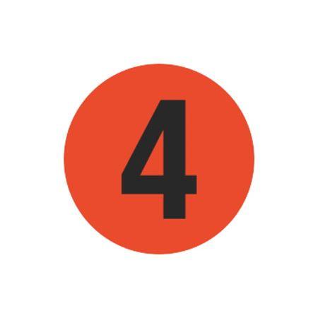 Printed Stock Hot Labels - #4 - Orange 1.5 x 1.5
