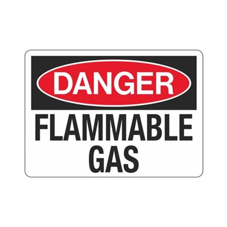 Danger Flammable Gas OSHA Compliant Hazmat Sign