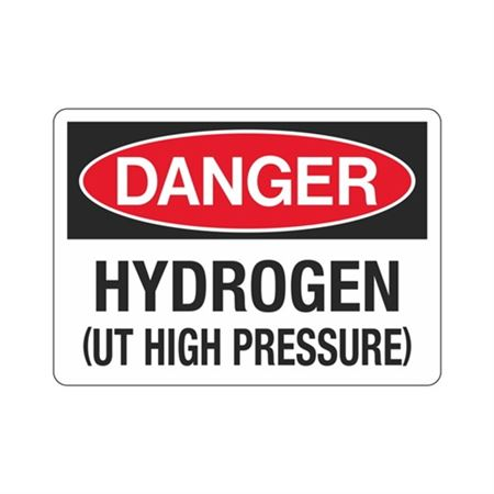 Danger Hydrogen (UT High Pressure) (Hazmat) Sign