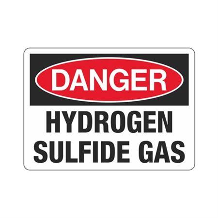Danger Hydrogen Sulfide Gas (Hazmat) Sign