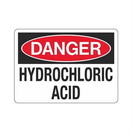 Danger Hydrochloric Acid (Hazmat) Sign