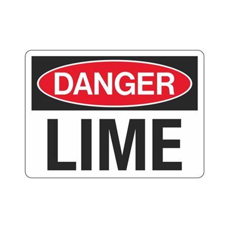 Danger Lime (Hazmat) Sign